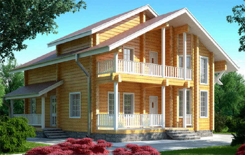 Проект деревянного дома 11-69