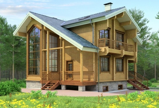 Проект деревянного дома 11-72