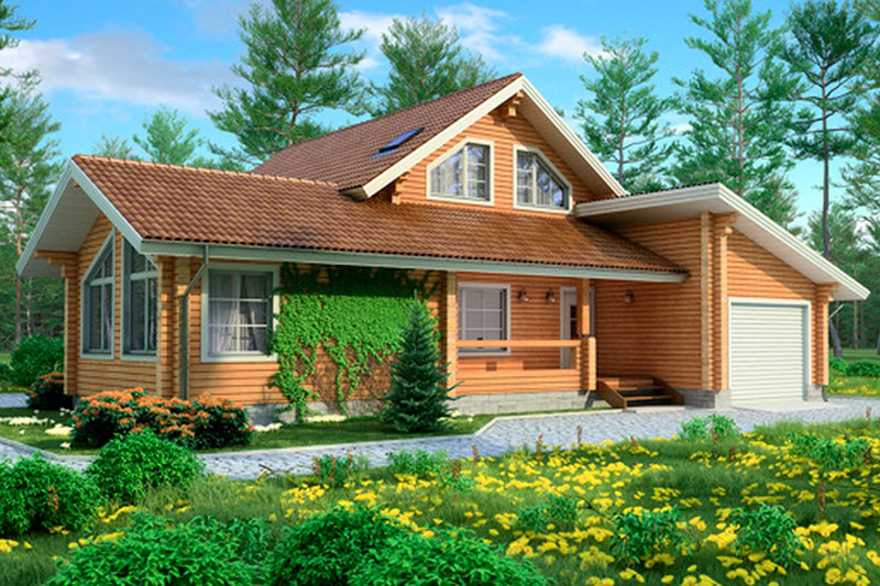 Проект деревянного дома 11-74