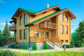 Проект деревянного дома 11-79