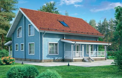 Проект деревянного дома 11-97