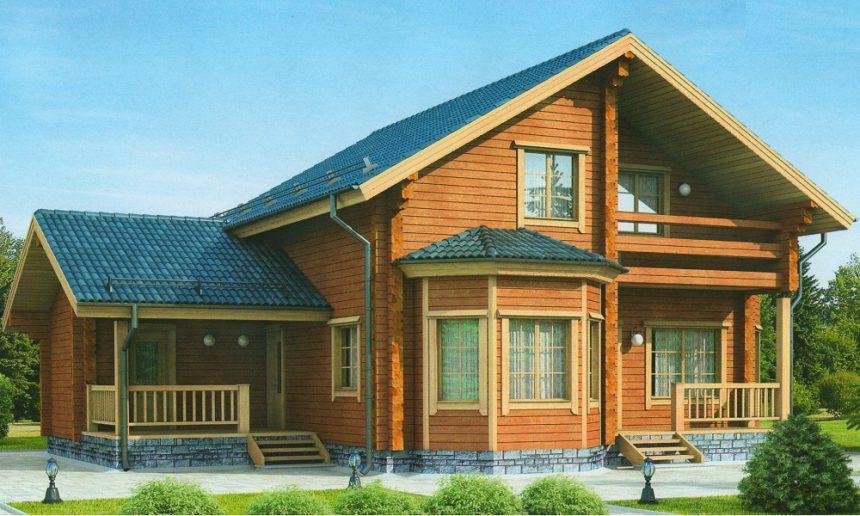 Проект деревянного дома 11-98