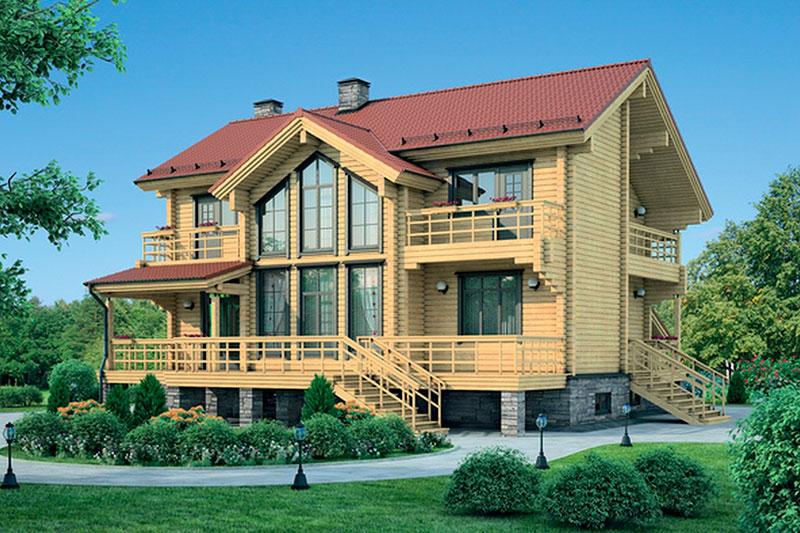 Проект деревянного дома 11-99