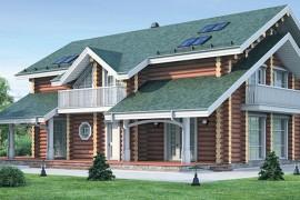 Проект деревянного дома 12-02
