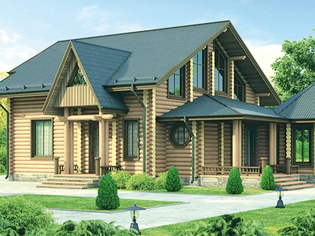 Проект деревянного дома 12-07