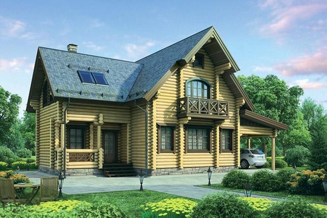 Проект деревянного дома 12-08