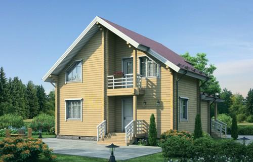 Проект деревянного дома 12-10