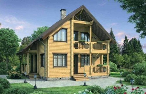 Проект деревянного дома 12-11