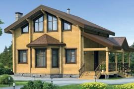 Проект деревянного дома 12-12