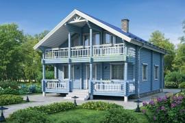 Проект деревянного дома 12-13