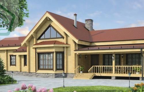 Проект деревянного дома 12-14