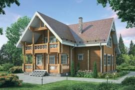 Проект деревянного дома 12-17