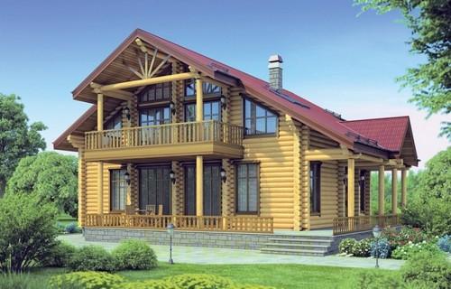 Проект деревянного дома 12-18