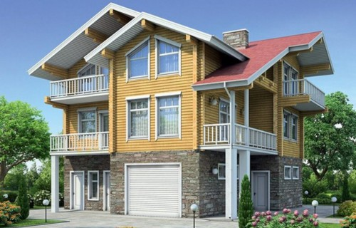 Проект деревянного дома 12-20