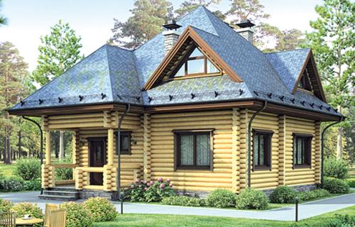 Проект деревянного дома 12-22