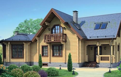 Проект деревянного дома 12-23