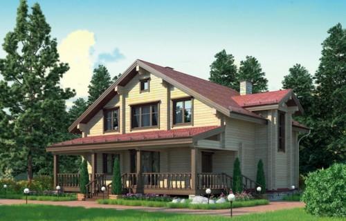 Проект деревянного дома 12-24