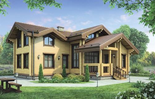 Проект деревянного дома 12-25