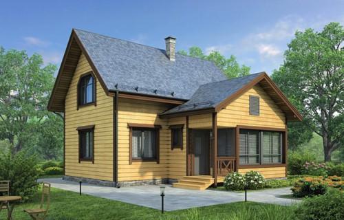 Проект деревянного дома 12-26