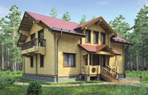 Проект деревянного дома 12-27