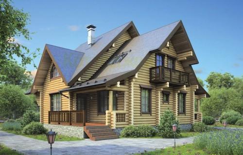 Проект деревянного дома 12-28