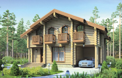 Проект деревянного дома 12-30