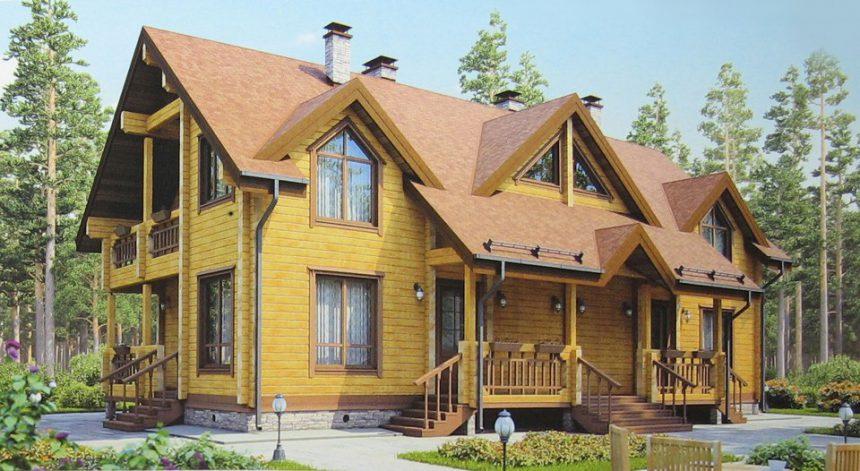Проект деревянного дома 12-32