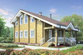 Проект деревянного дома 12-33