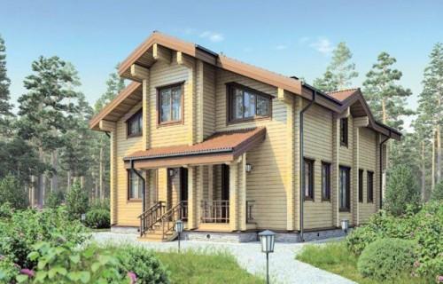 Проект деревянного дома 12-34