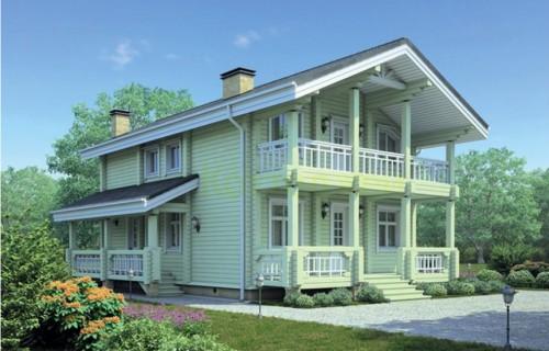 Проект деревянного дома 12-35