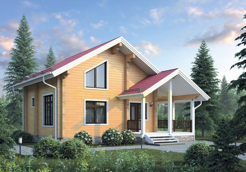 Проект деревянного дома 12-36