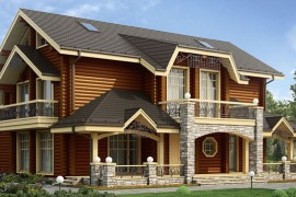 Проект деревянного дома 12-47