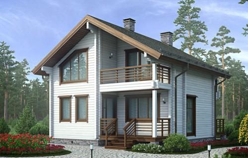 Проект деревянного дома 12-38