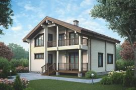 Проект деревянного дома 12-39