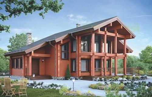 Проект деревянного дома 12-45
