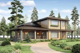 Проект деревянного дома 12-50