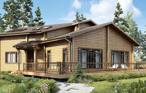 Проект деревянного дома 12-54