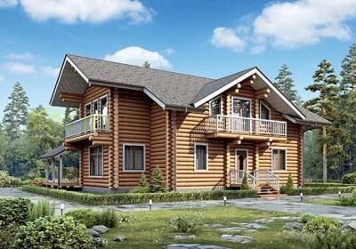 Проект деревянного дома 12-56