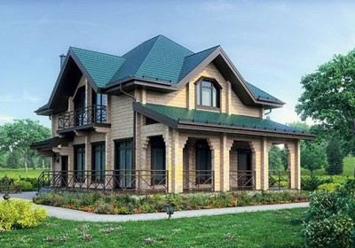 Проект деревянного дома 12-58