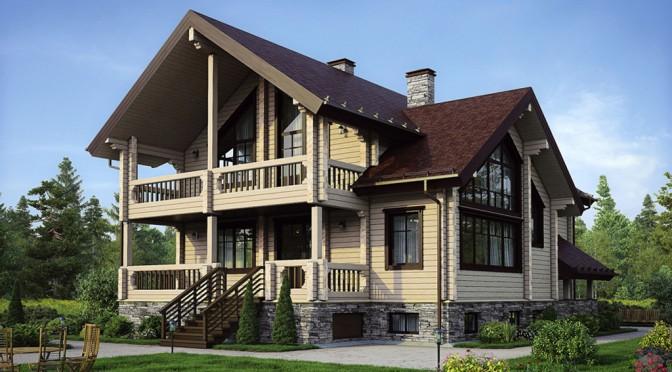 Проект деревянного дома 12-59