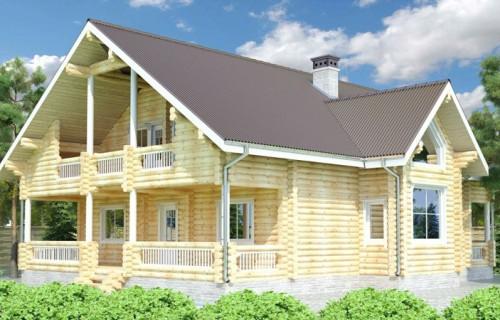 Проект деревянного дома 15-15